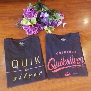 Quicksilver logo T-shirts Lot of 2  Size Medium